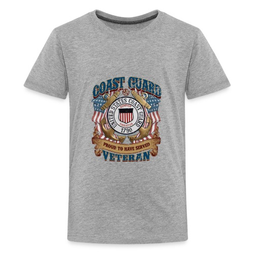 US COAST GUARD PROUD TO HAVE SERVED VETERAN - Kids' Premium T-Shirt