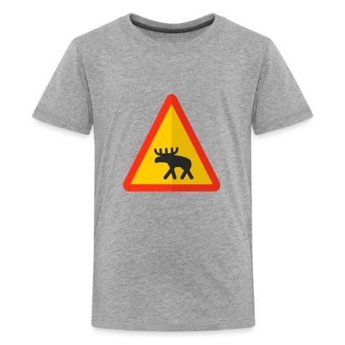 Moose Warning - Kids' Premium T-Shirt