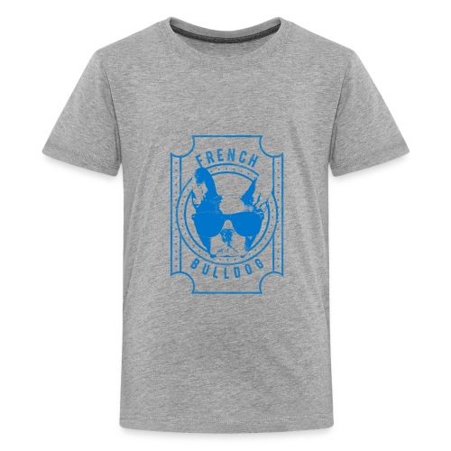 French Bulldog Blue - Kids' Premium T-Shirt