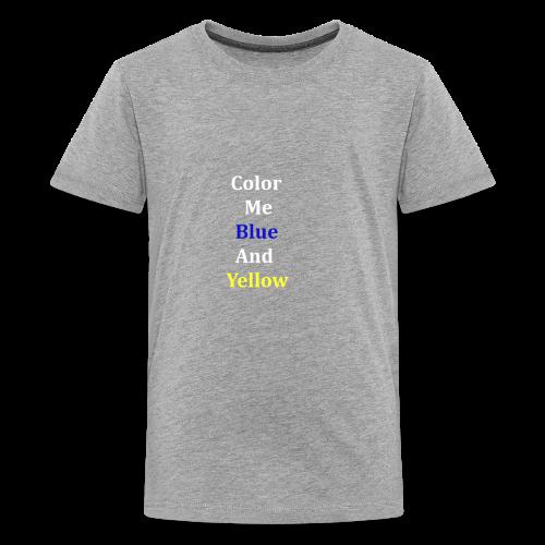 yellowandblue - Kids' Premium T-Shirt