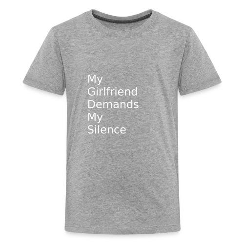 My Girlfriend Silence - Kids' Premium T-Shirt