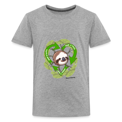Save a Sloth, Save a Tree, Save the Forest - Kids' Premium T-Shirt