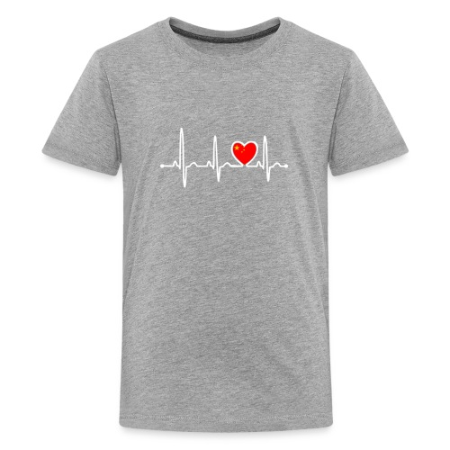 China Country Flag Heartbeat - Kids' Premium T-Shirt