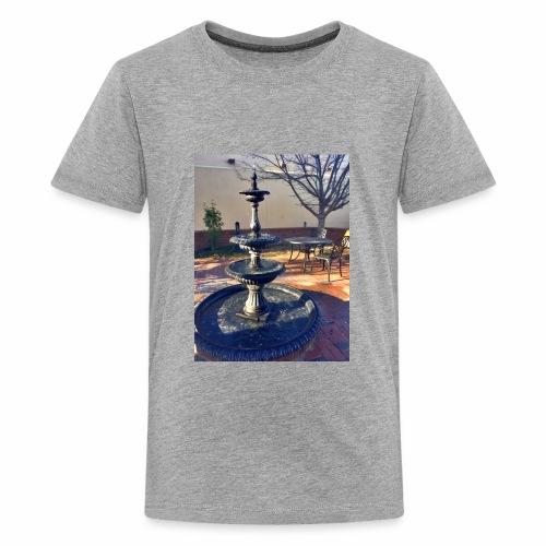 Fairytale Fountain Painting - Kids' Premium T-Shirt