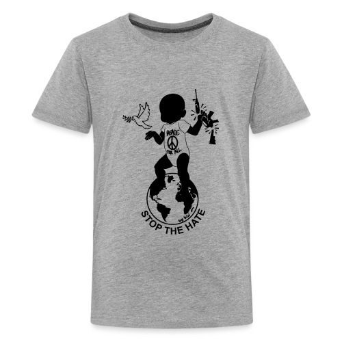 Stop the hate by biri - Kids' Premium T-Shirt