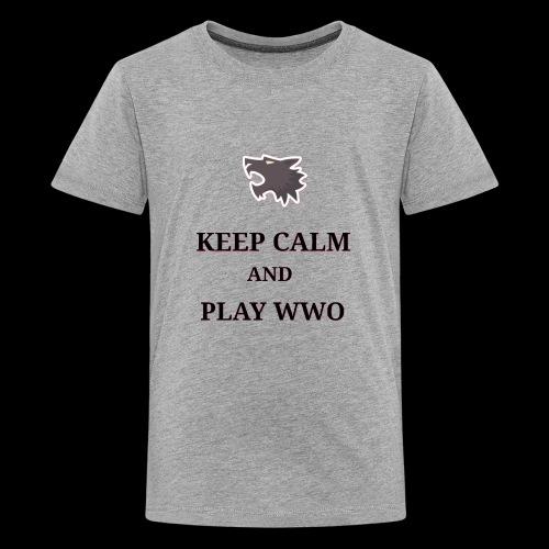 KEEP CALM AND PLAY WEREWOLF - Kids' Premium T-Shirt