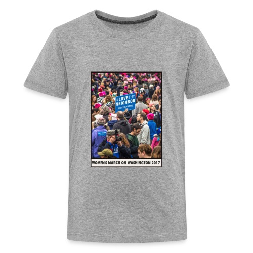 Women's March on Washington 2017-Love Thy Neighbor - Kids' Premium T-Shirt