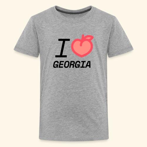 I Peach Georgia - Kids' Premium T-Shirt