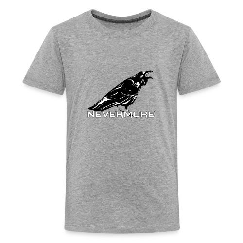 The Raven Nevermore Scary Design – Halloween Gift for English Teachers and Readers - Kids' Premium T-Shirt