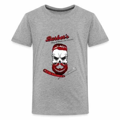 Barber's king of blades and sissors - Kids' Premium T-Shirt