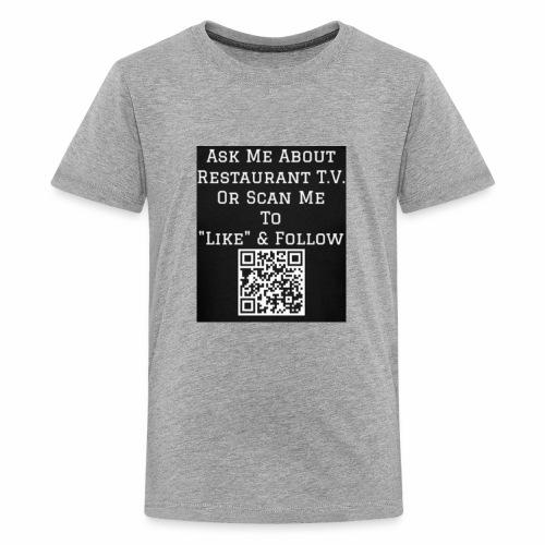 Restaurant T.V. - Back - Kids' Premium T-Shirt