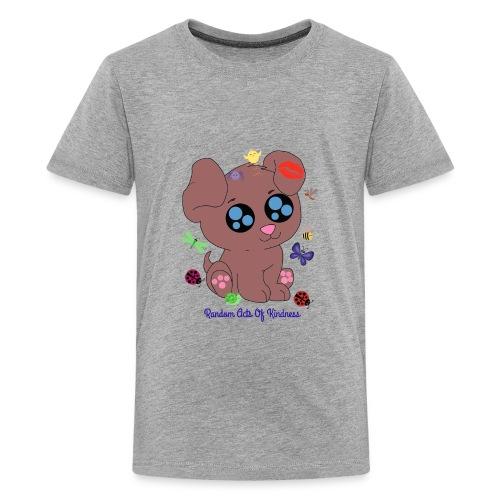 Rose Brown puppy shirt - Kids' Premium T-Shirt