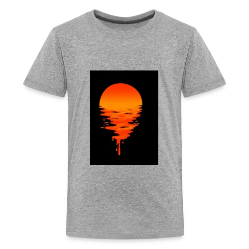 Creative picture of sun going down with nice color - Kids' Premium T-Shirt