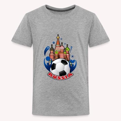 001 Russian buildings and ball - Kids' Premium T-Shirt