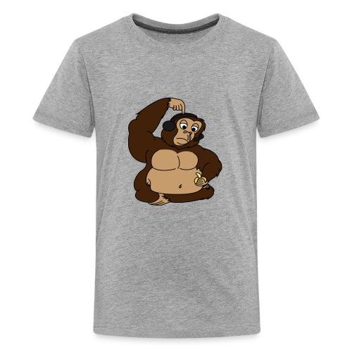 fat monkey v2 by playfulpossum d5r83ik - Kids' Premium T-Shirt
