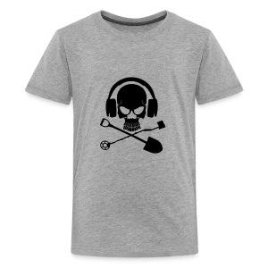 Silver Pirate Logo Inverted LARGE TRANS - Kids' Premium T-Shirt