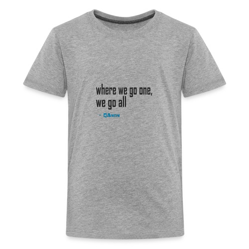 qanon where we go one we go all - Kids' Premium T-Shirt