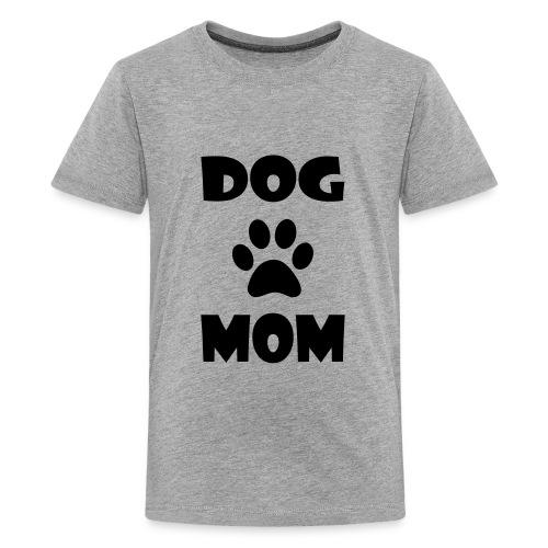 DOG MOM WITH PAW PRINT - Kids' Premium T-Shirt