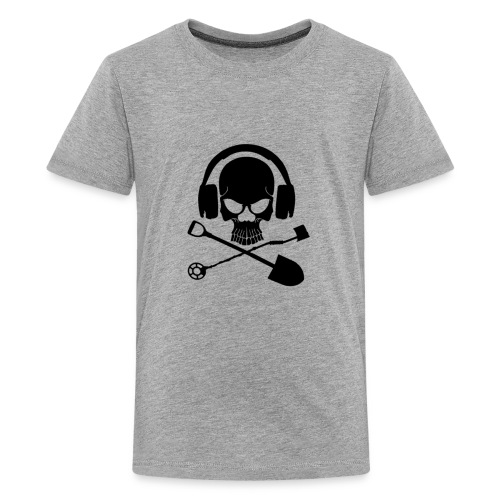 Silver Pirate Logo Inverted LARGE TRANS - Kids' Premium T-Shirt