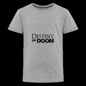 Destiny or Doom Black Logo - Kids' Premium T-Shirt