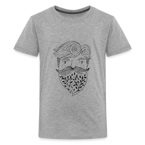 beardo leaves man - Kids' Premium T-Shirt