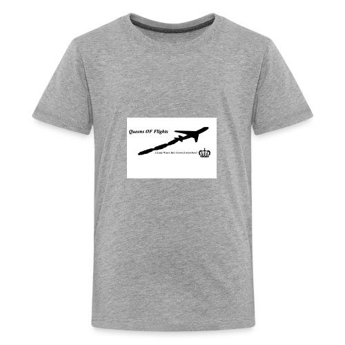 Black and White cross crown - Kids' Premium T-Shirt