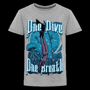 One Dive One Breath Freediving - Kids' Premium T-Shirt