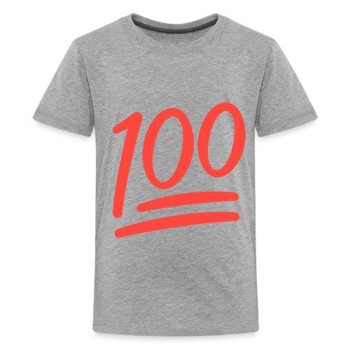 Fxemoji u1F4AF svg - Kids' Premium T-Shirt