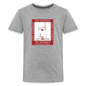 St Mark's Logo Dark Red - Kids' Premium T-Shirt