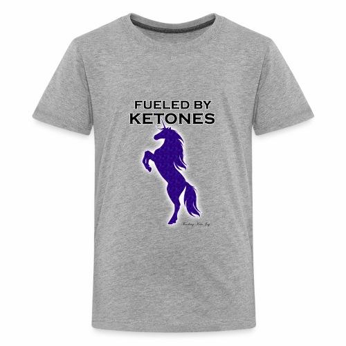 FUELED BY KETONES INDIGO SPECKLED UNICORN - Kids' Premium T-Shirt