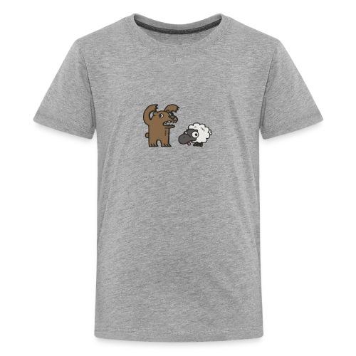 Barr and Sheep funny tshirt - Kids' Premium T-Shirt