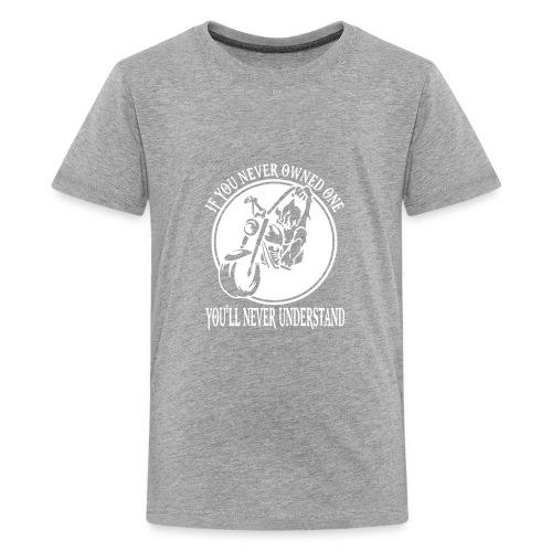 WOLF BIKER FUNNY - Kids' Premium T-Shirt