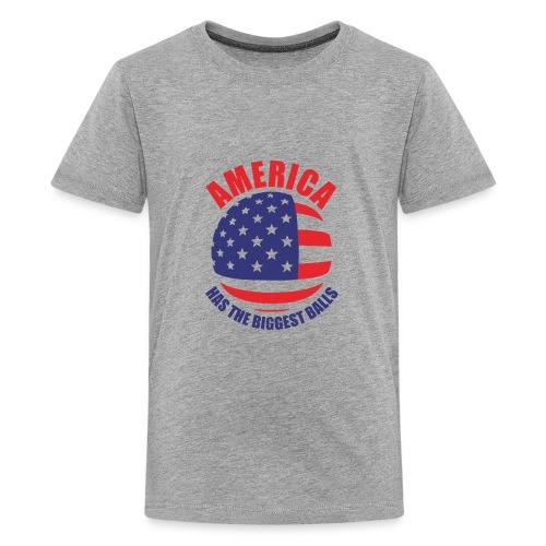 America has the biggest balls Funny Logo - Kids' Premium T-Shirt