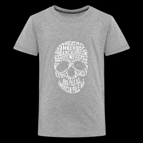 Typography Skull Logo - Kids' Premium T-Shirt