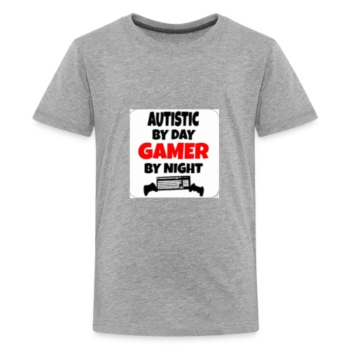 Autistic By Day Gamer By night - Kids' Premium T-Shirt