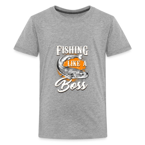 Fishing like a BOSS - Kids' Premium T-Shirt