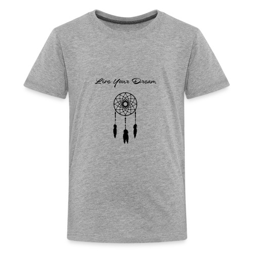 Mens Live Your Dream Hoodie (black font) - Kids' Premium T-Shirt