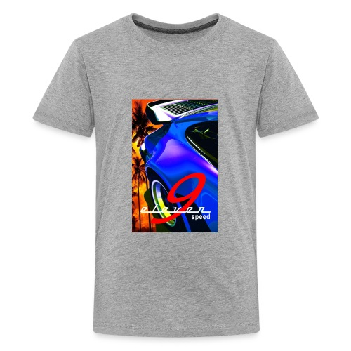 911 Car T-Shirt Whale Tail Sports Design Purple - Kids' Premium T-Shirt