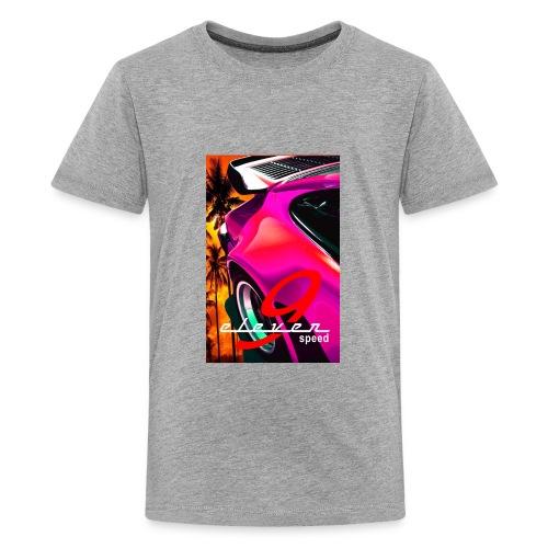 911 Car T-Shirt Whale Tail Sports Design Pink - Kids' Premium T-Shirt