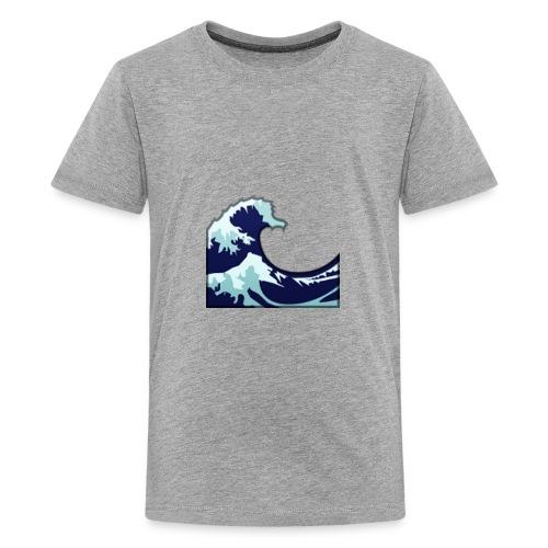 Wave Tsunami Logo - Kids' Premium T-Shirt