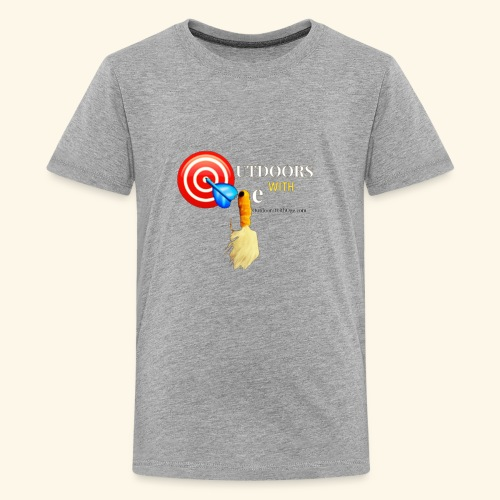 Outdoors with Oge Target and Jighead Logo - Kids' Premium T-Shirt
