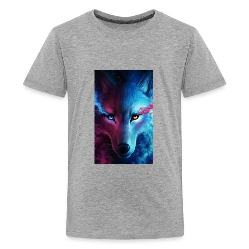 Wolf 44f62aed 5d06 3524 b855 47d7281f9ffb - Kids' Premium T-Shirt
