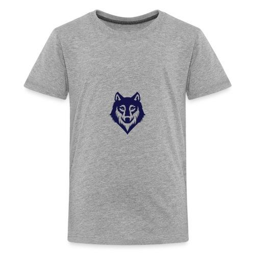 9a45729d3404bccd07a3281e8b3a12ec wolf stencil wol - Kids' Premium T-Shirt