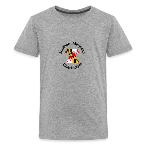 SOMD Libertarians Logo Outlined Bell No Shadow T - Kids' Premium T-Shirt