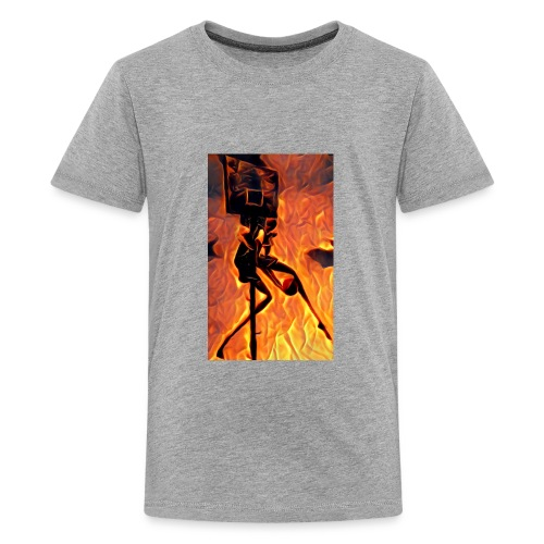 Fire Basketball Player - Kids' Premium T-Shirt