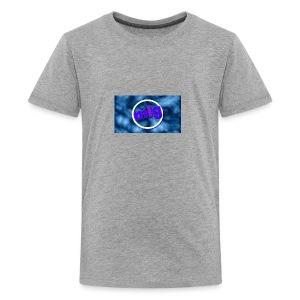 blue gothic grunge background3 - Kids' Premium T-Shirt