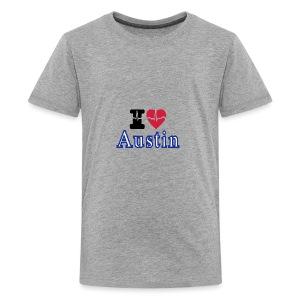 Love Austin Heart - Kids' Premium T-Shirt