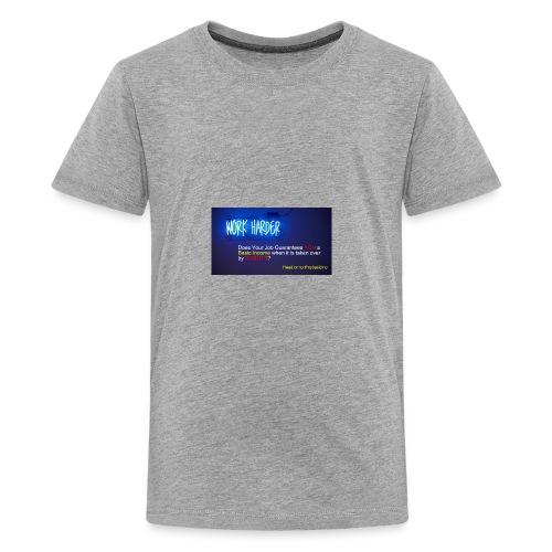 Work Harder #mybasicincome - Kids' Premium T-Shirt