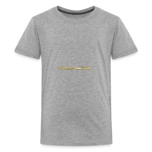 TROLLIEUNICORN gold text limited edition - Kids' Premium T-Shirt