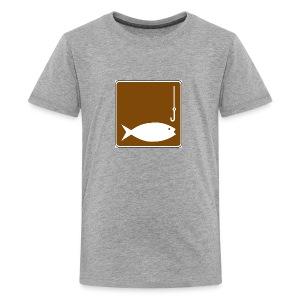 Fishing clipart image - Kids' Premium T-Shirt